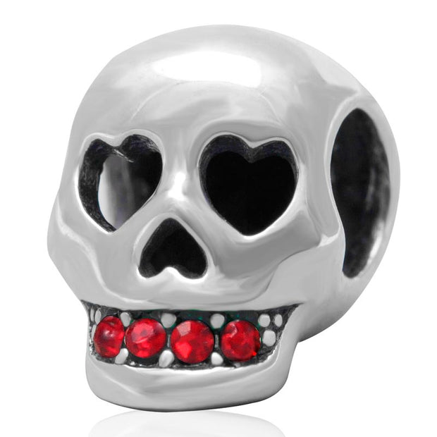Authentic 100% 925 Sterling Silver Bead Charms Skull Bead Austria Imports Fit Original Pandora Bracelets Jewelry
