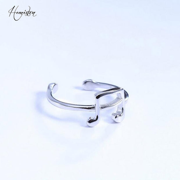Authentic 100% Silver Musical Notation Ring, Original Compatible With Thomas Ring Jewelry For Women And Men TS 196