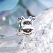 Authentic 925 Sterling Silver Animal Bead Charm European Cute Cow Beads Fit Women Pandora Bracelet Bangle DIY Jewelry