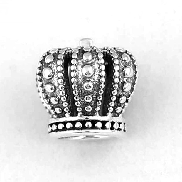 Authentic 925 Sterling Silver Bead Charm Openwork Vintage Royal Crown Bead Fit Women Pandora Bracelet Bangle DIY Jewelry