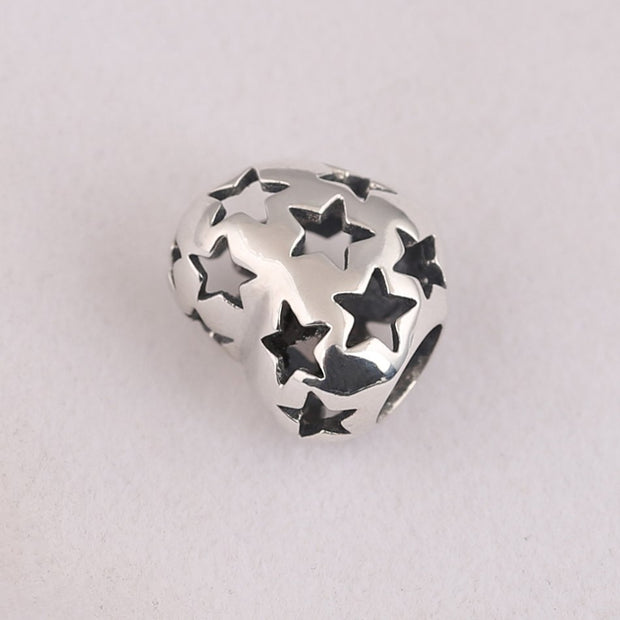 Authentic 925 Sterling Silver Charms Beads Fit Original Pandora Bracelets & Bangles Stars Love Heart Charm DIY Jewelry