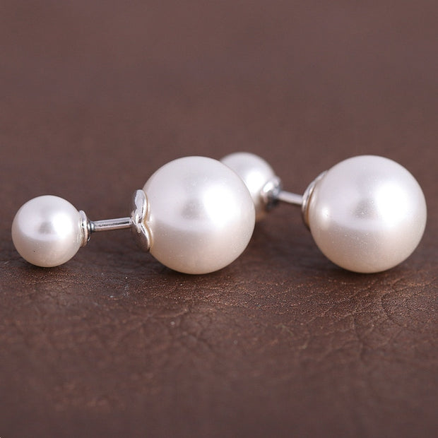 2b9d99254 Authentic 925 Sterling Silver Earring Luminous Droplets Pearl Studs Earring  For Women Wedding Party Gift Fine