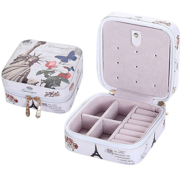 1b7e05ab4 B Mini PU Leather Casket For Jewelry Travel Case Ring Earrings ...