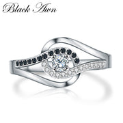 [BLACK AWN] 925 Sterling Silver Jewelry Trendy Wedding Rings For Women Engagement Ring Femme Bijoux Bague C271