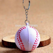Baseball Ball Fashion Car Keychain 6pcs Keyring PU Round Pendant Keychain Handmade Key Chain Gifts Keychain Wholesale