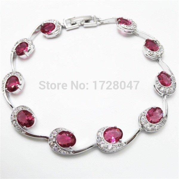 Best Quality Bangles Bracelets White White Plated Deep Rose Cubic Zirconia Fashion Jewelry Bangles For Women
