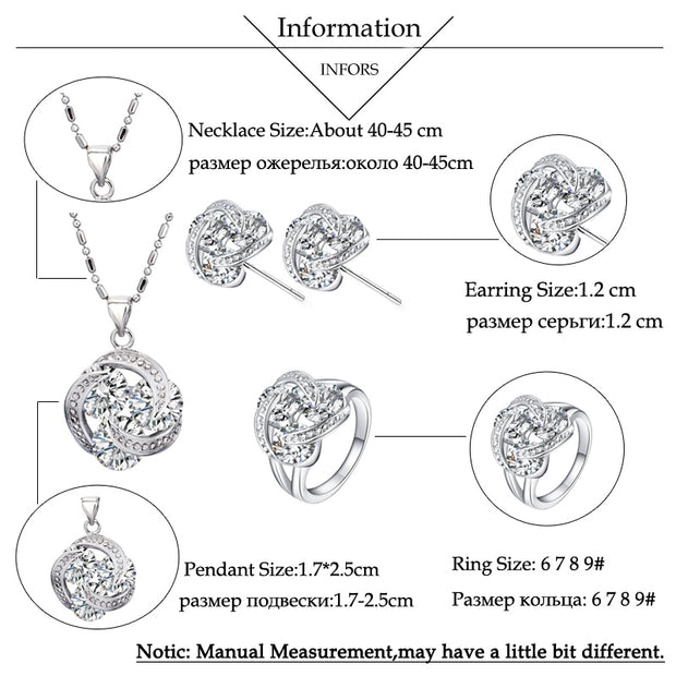 BlingZircons Purple Pink Champagne Multicolor Round Cubic Zirconia Earring Necklace Ring Women 3 Pcs Fashion Jewelry Sets JS152