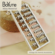 BoYuTe (10 Pieces/Lot) 27*48MM Vintage Sweater Chain Accessories Parts Wholesale Antique Bronze Silver Abacus Pendant Diy
