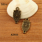 BoYuTe (100 Pieces/Lot) 18*9MM Antique Bronze Plated Zinc Alloy Owl Birds Charms Diy Handmade Pendants For Bracelet Necklace