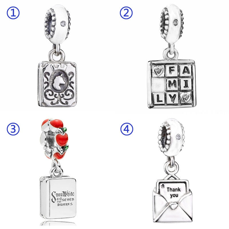 727fd08c2 Book Our Fairytale Family Game Night Love Heart Envelope Pendant Charm Fit  Pandora Bracelet 925 Sterling Silver Bead Jewelry