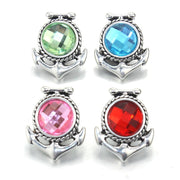 Boom Life Snap Jewelry Buttons Birthstone Rhinestone 18mm Snap Buttons Fit 18mm Snap Bracelets Women Alloy Button Jewelry 010308