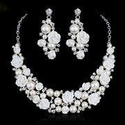 Bridal Necklace And Earrings Jewelry Set Wedding Accessories Jewelry Sets For Women Pendant Necklace Earrings Jewelry Sets