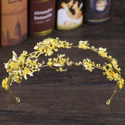 Bride Headband Exquisite Floral Wedding Gold Silver Luxury Double Layer Ornament