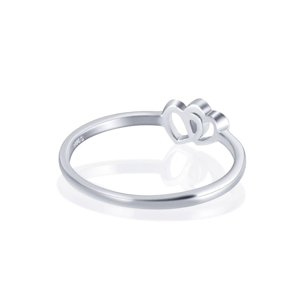 925 Sterling Silver Twin Design Ring