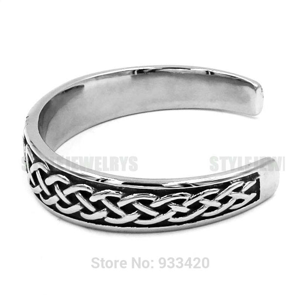 Classic Celtic Knot Bracelet Stainless Steel Jewelry Claddagh Style Silver Motor Biker Women Men Bangle Wholesale SJB0300