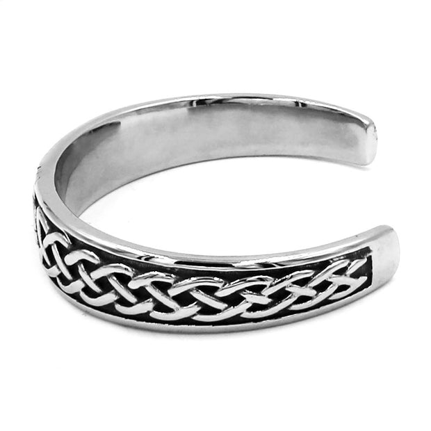 Classic Celtic Knot Bracelet Stainless Steel Jewelry Claddagh Style Silver Motor Biker Women Men Bangle Wholesale SJB030002