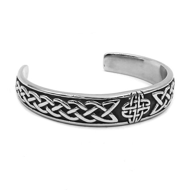 Classic Celtic Knot Bracelet Stainless Steel Jewelry Claddagh Style Silver Motor Biker Women Men Bangle Wholesale