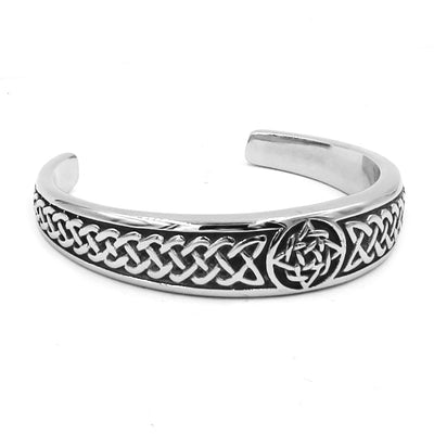 Classic Celtic Knot Bracelet Stainless Steel Jewelry Punk Claddagh Style Silver Motor Biker Women Men Bangle Wholesale