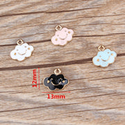Clouds Enamel Alloy Dangle Charms Fit For Necklace Bracelet Pendant Jewellery 20Pcs/lot