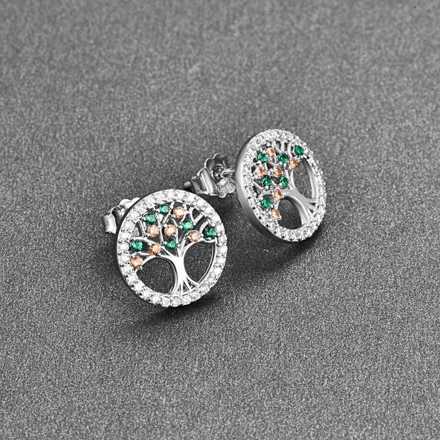 Colorful Blue Crystal 925 Sterling Silver Earrings Studs For Women Cute Stud Earring Jewellery Accessories