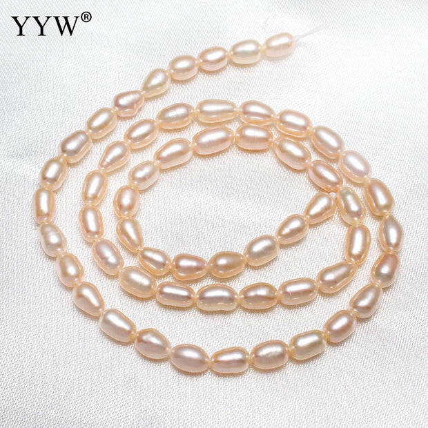 Cultured Rice Freshwater Pearl Beads Natural 4-5mm 14.5inch/Strand For Classic Pearl Necklace Bracelet Making Accessory