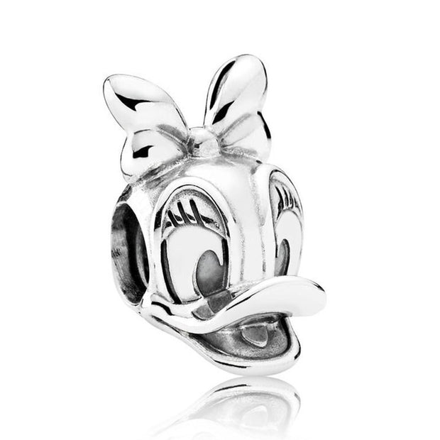 Cute Donald & Daisy Duck Vintage Cow Remarkable Beads Fit Pandora Bracelet 925 Sterling Silver Animal Charm DIY Jewelry
