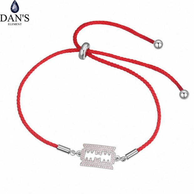 DAN'S ELEMENT AAA Zirconia Micro Inlays Fashion Bracelets & Bangles For Women Thin Red Thread String Rope Charm Horse 131089