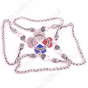 "DIABETIC Awareness Alert Crystal Heart Charm With 24CM(9.4"") Wheat Chain Lobster Claw Bracelet"