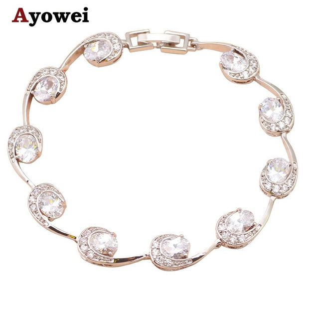 Distinctive Design Gorgeous Bracelets For Lover White Silver Women Fashion Jewelry TB551A Most Popular Online
