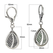 Drop Shape Diffuser Locket Key Chain With Lobster Clasp 10 Pads Essential Oil Locket Perfume Diffuser Magnetic Stainless Steel