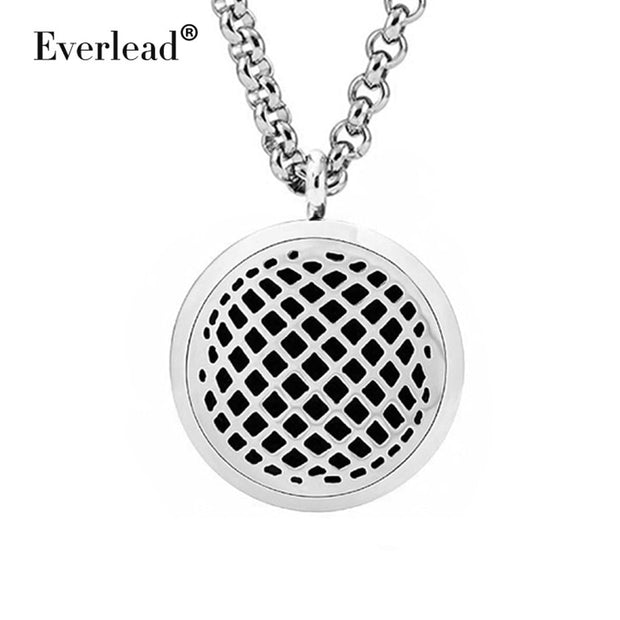 EVERLEAD Beautiful Magnetic Locket Pendant Aromatherapy Lockets Round Stainless Steel Lovely Women Diffuser For Mother's Day