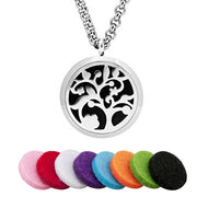 EVERLEAD Pendant Fashion Aromatherapy Pendant Lockets Wholesale Jewelry Round 316L Stainless Steel Diffuser For Women Magnetic