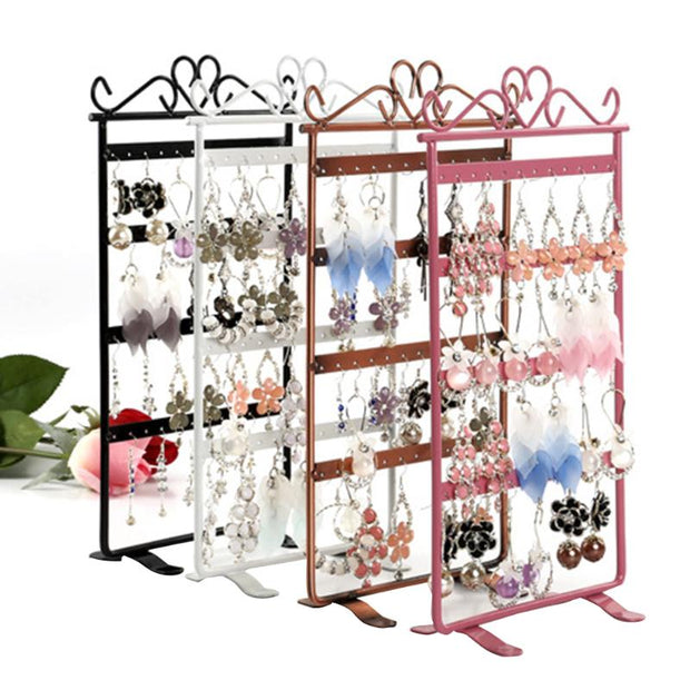 Earrings Necklace Ear Studs Jewelry Display Rack Simple Style Metal Stand Holder Display Shelf Jewelry Stand Holder