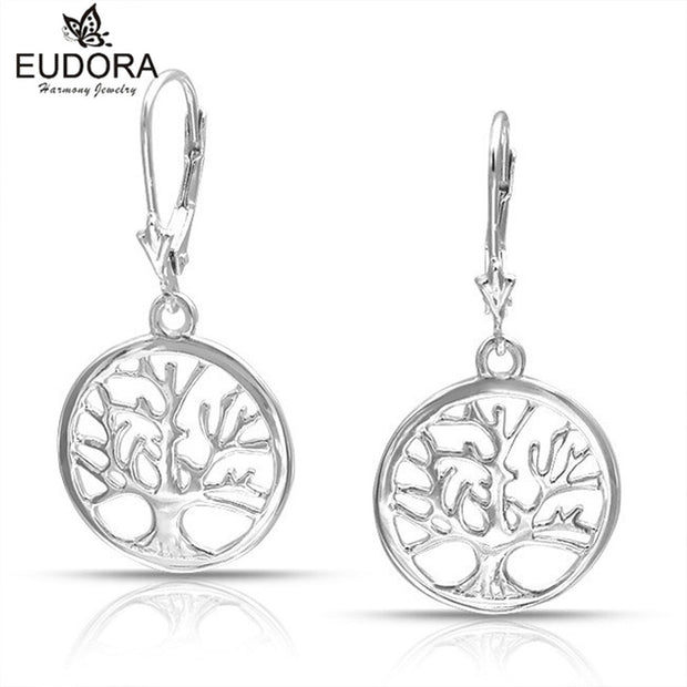 Eudora Tree Of Life Earring Dangler Hollow Out Scrub Drop Earrings For Women Long Earrings Designs For Women Lady Fine Jewelry