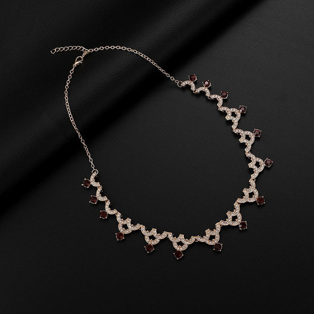Europe And The United States Exaggerated Alloy Earrings Necklace Sets