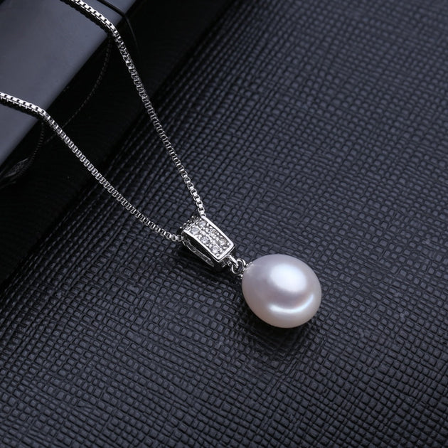 48bec16a04fef9 FENASY Vintage Pearl Necklace Pink Pearl Fashion Design Natural Pearl –  Velvet Box