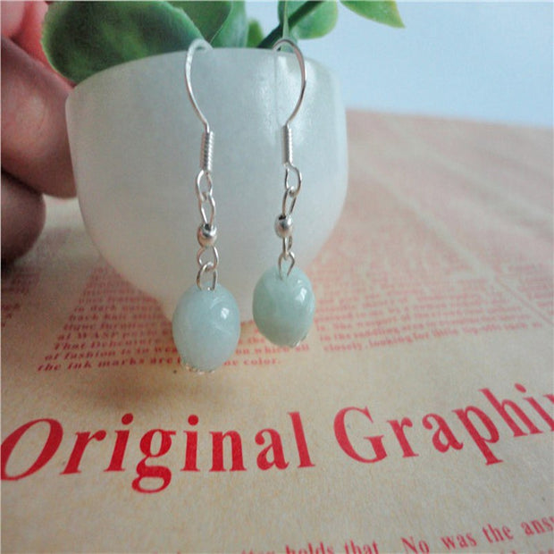 FENGASHOUW Authentic Burma Natural Stone Beads LeBron 925 Silver Earrings Lotus Pearl Earrings New To Send His Girlfriend