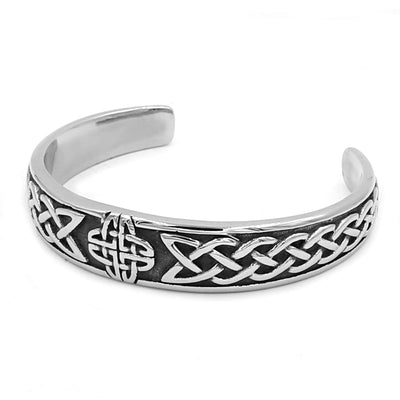 Fashion Celtic Knot Bracelet Stainless Steel Jewelry Claddagh Style Silver Motor Biker Bangle For Women Men Wholesale SJB0300