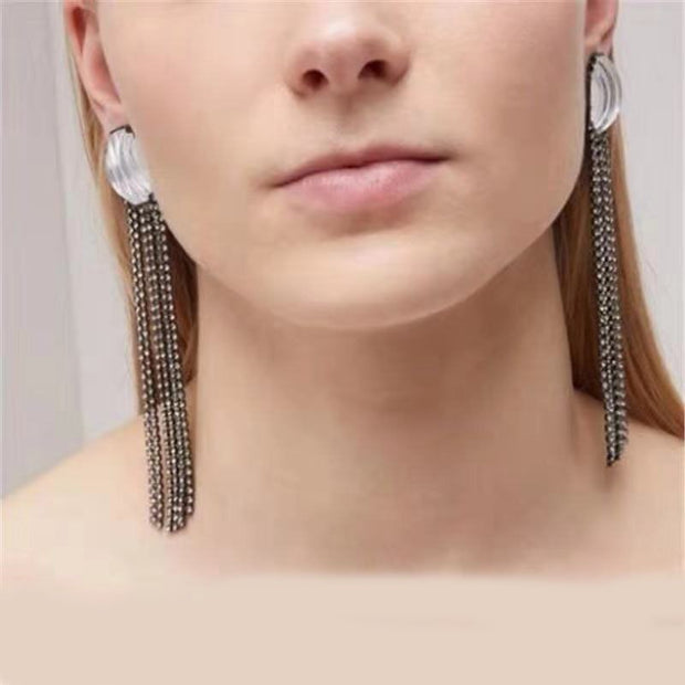 Fashion Temperament Earrings Female Temperament Earrings Fashion Exaggerated Personality Hipster Geometric Earrings 902