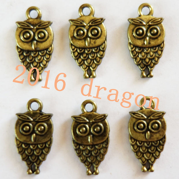 Free Shipping Fashion Jewelry 12pcs Owl Bronzite Pendant 19x12x2mm TO40