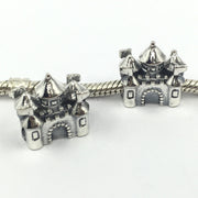 Free Shipping House&Castle 925 Sterling Silver Beads European Charms Fit Pohier Bracelets &Necklace SP00038