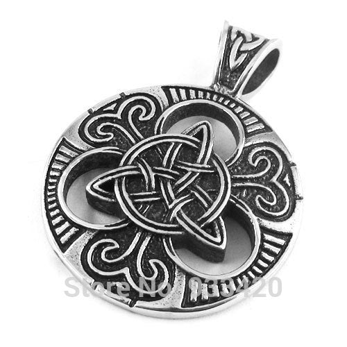 Free Shipping! Claddagh Style Celtic Knot Pendant Stainless Steel Jewelry Heavy Fashion Motor Biker Pendant SWP0310B