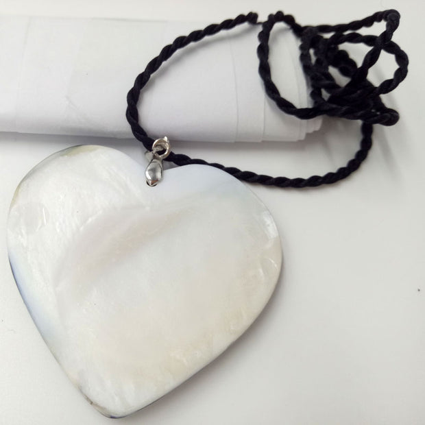 "Free Shipping New Fashion 49X49mm New Zealand Ablone Shell Shell Pendant Beads Necklace 18"" MC4702"