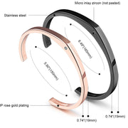 GAGAFEEL Cuff Bracelet For Women Men Couple Bracelets Laser Lettering Engrave Jewelry Stainless Steel Open Bangles For New Year