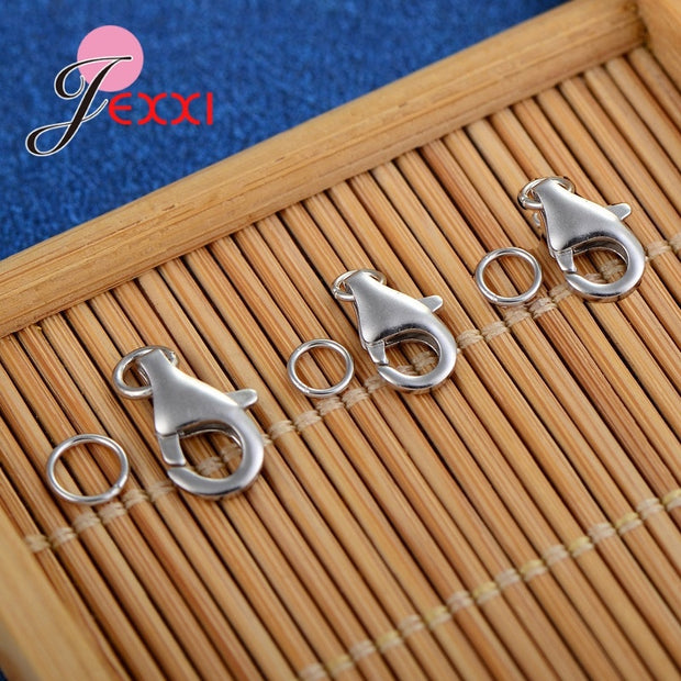 GIEMI Wholesale 50pcs/pack Selling 925 Sterling Silver Lobster Clasp Claw Jewelry Hooks Necklace Bracelet Making Accessories