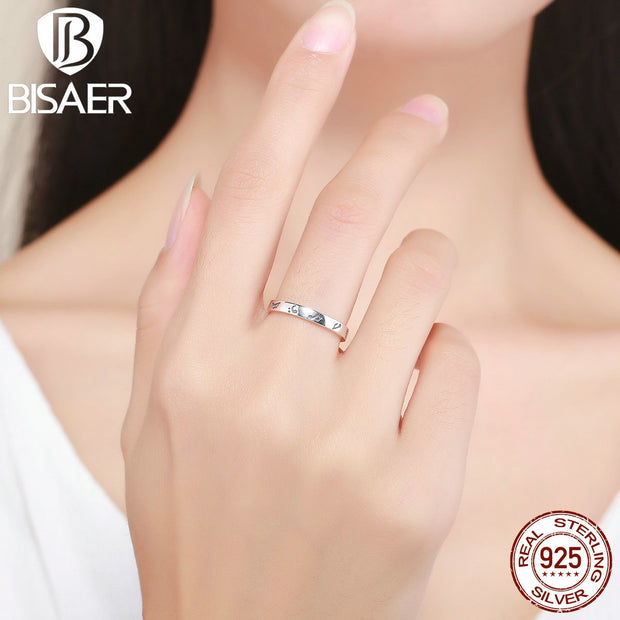 Genuine 100% 925 Sterling Silver Female Ring Music Notes Melody Finger Ring Women Anniversary Engagement Ring Jewelry GXR199