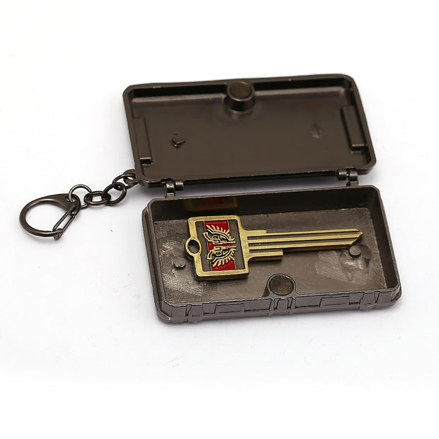 HSIC Game PUBG Triumph Crate Keychain Treasure Box With Key Playerunknown's Battlegrounds Cosplay Keyring Holder Props HC12924