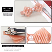 Hair Clip Pin Butterfly Hair Barrette Hairpins Acetate Cellulose Pearl Hair Accessories Jewelry Ornament Tiara For Women Braids