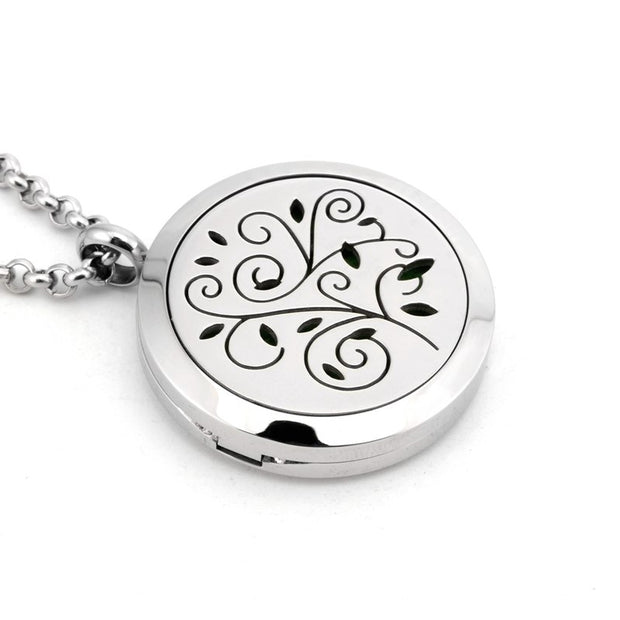 High Quality 316L Stainless Steel Perfume Essential Oil Aromatherapy Necklace Open Antique Vintage Lockets Pendant