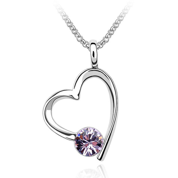 High Quality Heart Necklaces&Pendants Crystals From Austria Valentine's Day Gift